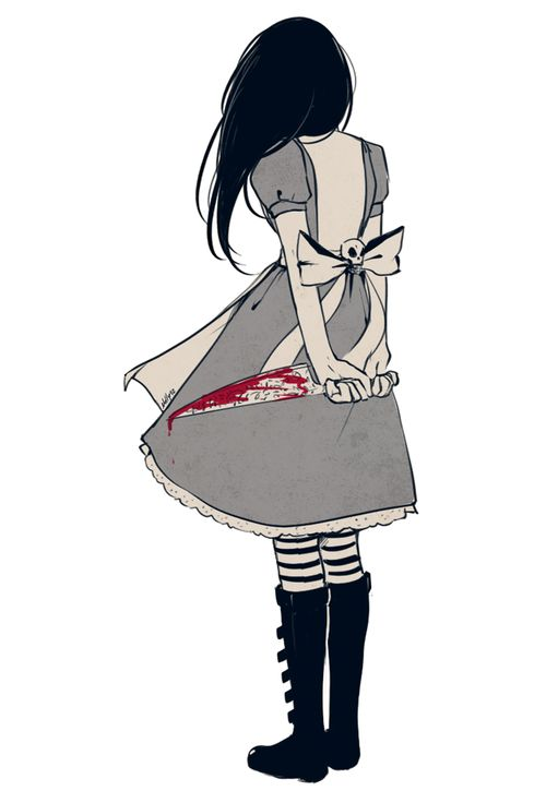 """""""This is Wonderland, and you are Alice."""" American mcgee's alice in wonderland video game."""