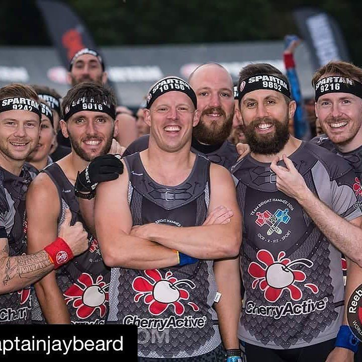 #Repost @captainjaybeard (via @repostapp)  Gearing up on the start line with the team yesterday.  Always ready to Rock'n'Pose!  Everyone gave it their best and smashed the Spartan Races this weekend I'm so proud to be a part of this amazing team of inspirational individuals. #fitness #tartcherry #cherryactive #superfood #superfood #kidssleep #livehealthy #montmorency #teammates #teamnatural