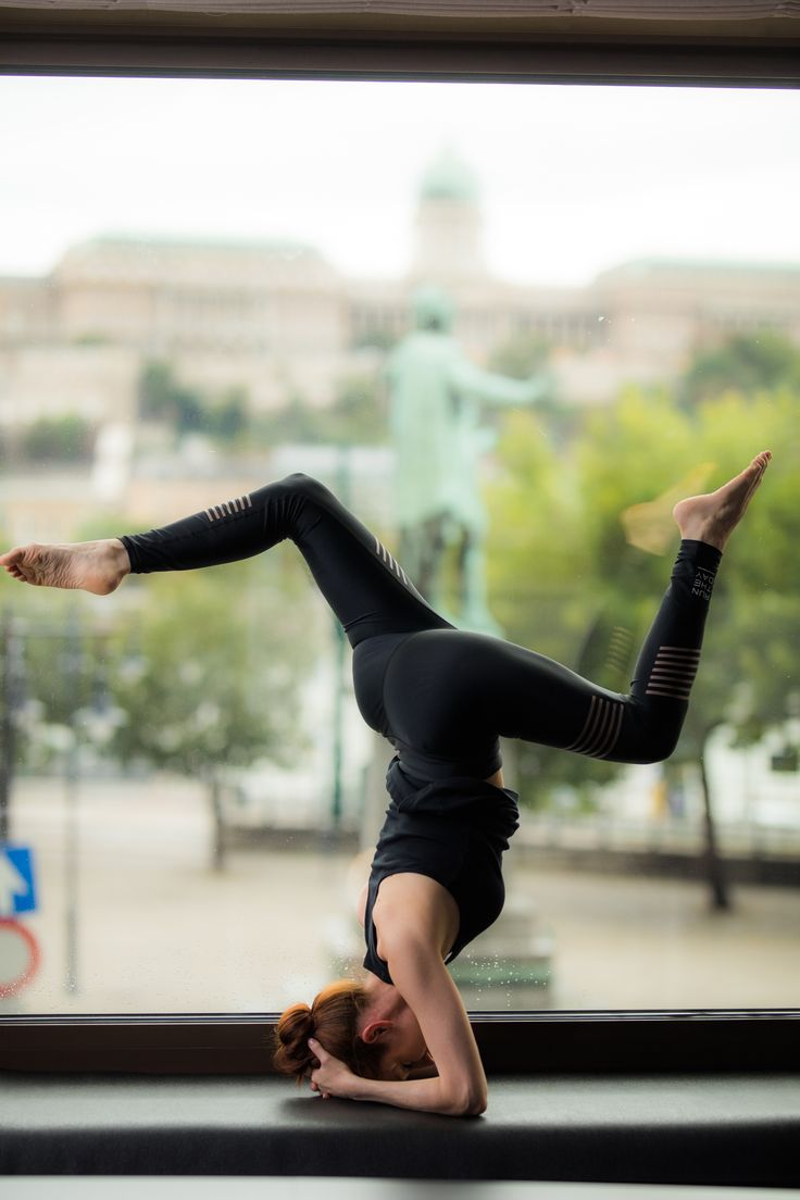 Yoga session with an amazing Budapest view
