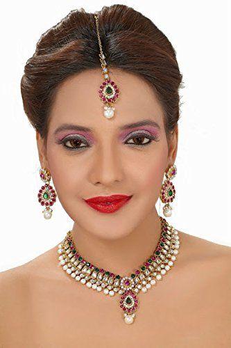 Indian Bollywood Pink & Green Stone Kundan Wedding Wear N... https://www.amazon.com/dp/B01NBXPPGL/ref=cm_sw_r_pi_dp_x_7bEHybW7FTA3C