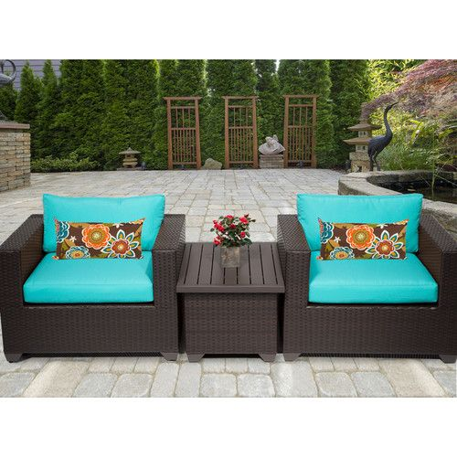 Belle 3 Piece Seating Group With Cushion Wayfair