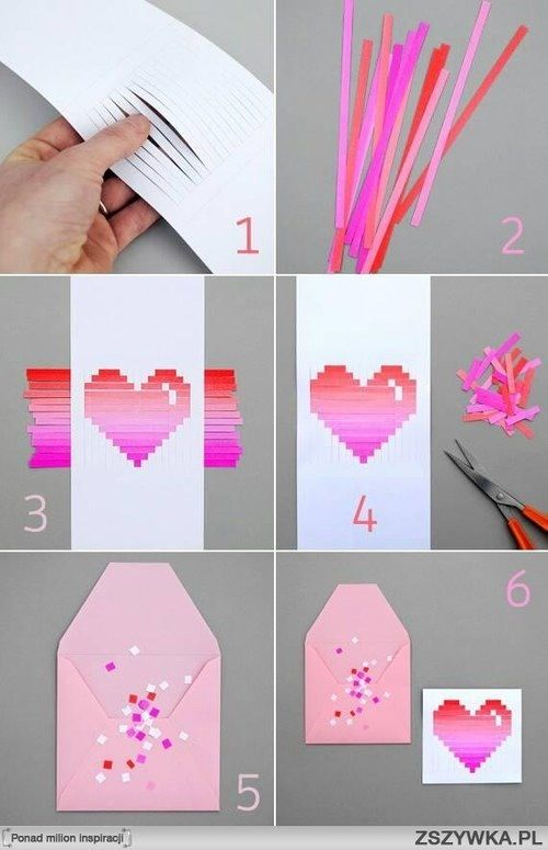 Diy paper heart card