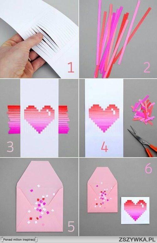 Diy paper heart card