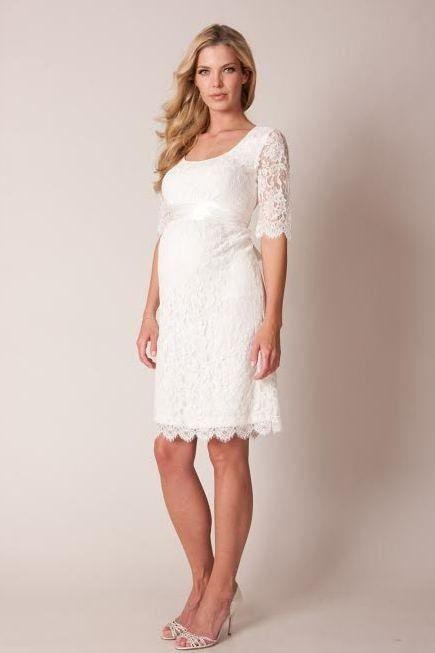 Robe dentelle blanche femme enceinte
