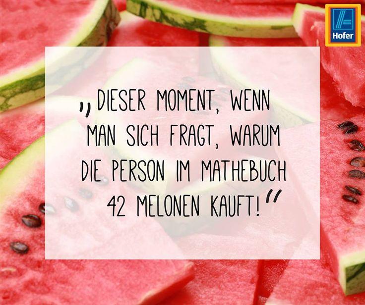 Melonen, Sommer, yummy! Dieser Moment, wenn man sich fragt, warum die Person im Mathebuch 42 Melonen kauft! :-)
