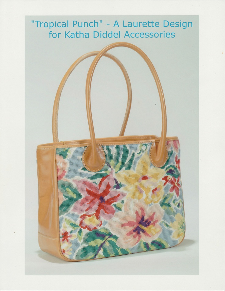 Tote in Tropical Punch - A Laurette Design for Katha Diddel Accessories