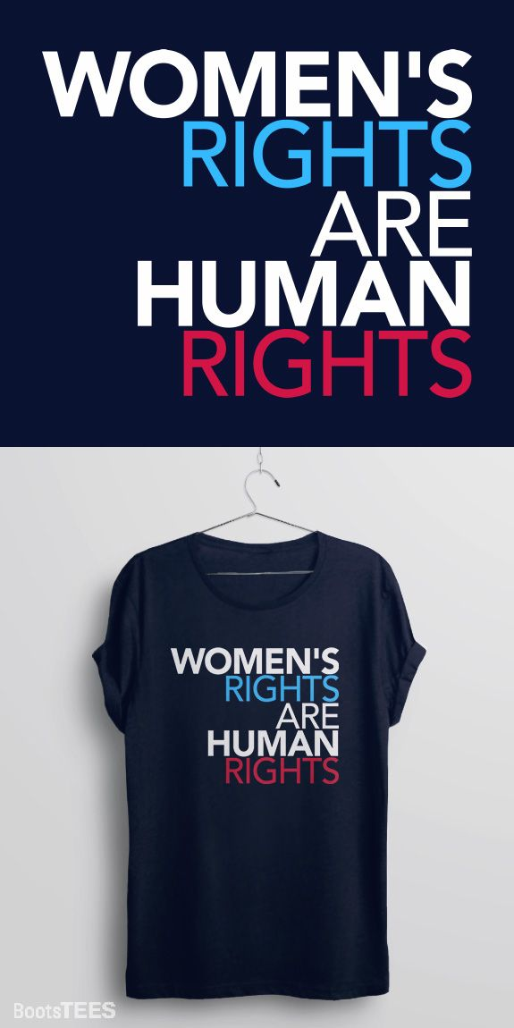 Feminism t-shirt with feminist quote for the Women's March on Washington. Women's Rights Are Human Rights. - Navy Protest Shirt from BootsTees