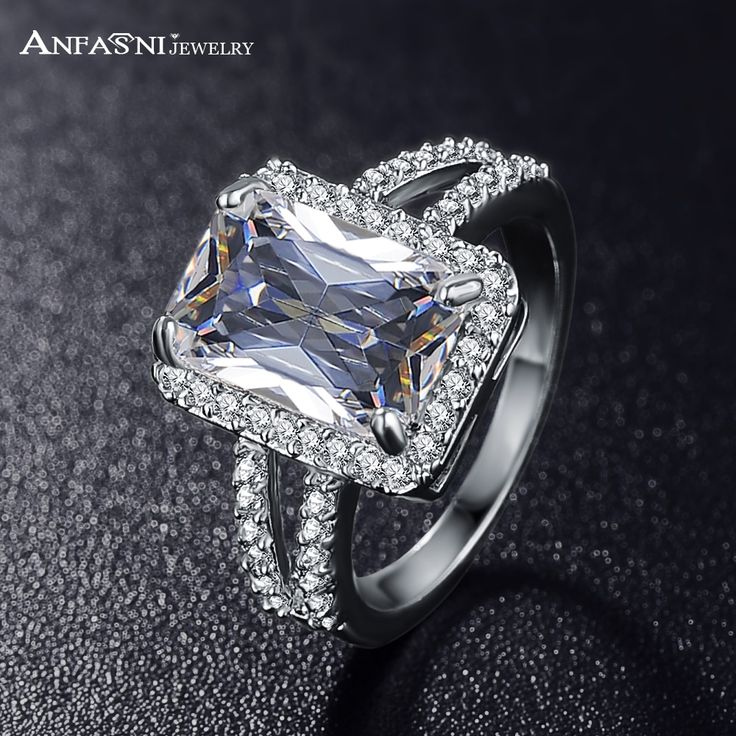 ANFASNI Fashion Princess Silver Color Zircon Ring //Price: $10.95 & FREE Shipping //     #me