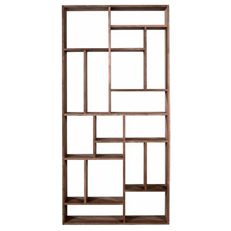 Open Bookcase Natural Teak (Bookcase), Brown