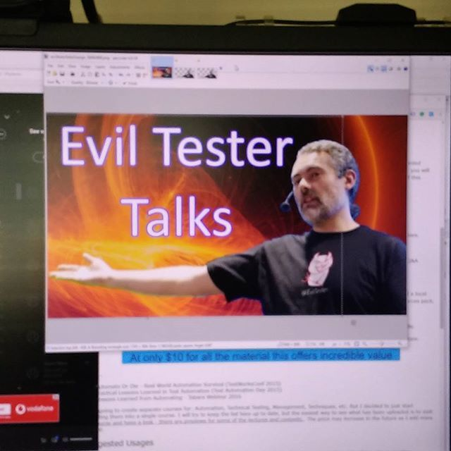 Rebranding  Evil Tester Talks online course while listening to Dio and Crazy World of Arthur Brown - that might explain the art work.  http://ift.tt/2rauF4p  After gym I need to write a blog post promoting it and then off into London for a meetup.  #softwaretesting #softwaretester