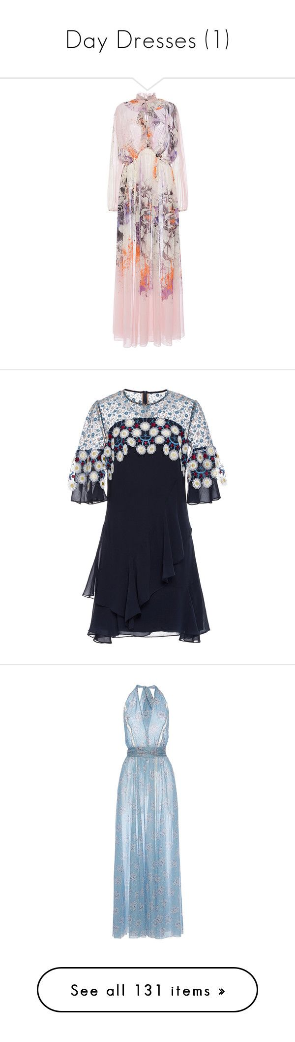 """""""Day Dresses (1)"""" by venus-in-fleurs on Polyvore featuring dresses, floral, floral print maxi skirt, long sleeve floral dress, pink floral maxi skirt, long-sleeve floral dresses, long floral skirts, navy, silk embroidered dress e silk mini dress"""