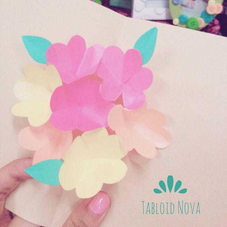 Hortensia Pop Up Cards! #diy #cards #tabloidnova #hortensia #flower