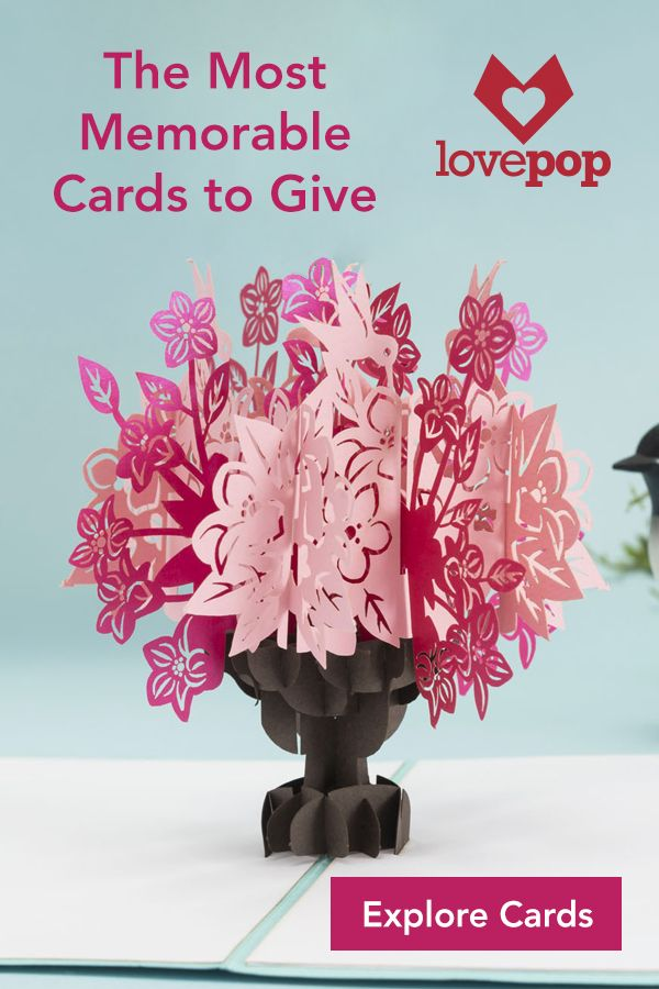 Give a Lovepop pop up greeting card to a friend, family member, or special someone to let them know you are always thinking of them. Lovepops are the perfect gift for people of all ages and any occasion.