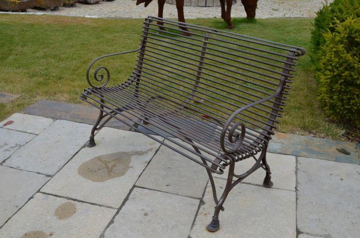 French ironwork bench seat