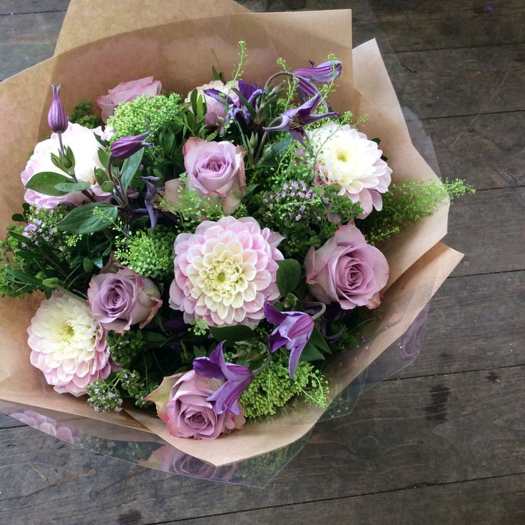 Bouquet using these lovely Dahlias, made by Alice