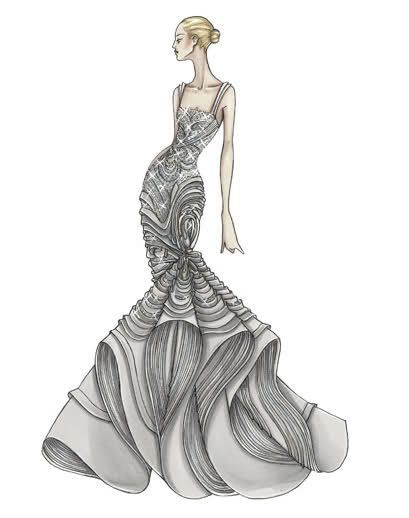 Fashion & Couture: Versace Sketches :) by Donatella Versace