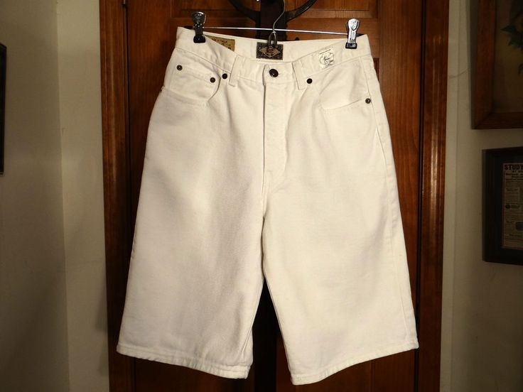 Vintage USA Womens White Jean Shorts Size 11/12 No.4 EXP Compagnie International #CompagnieInternationale #WhiteJeanStyle