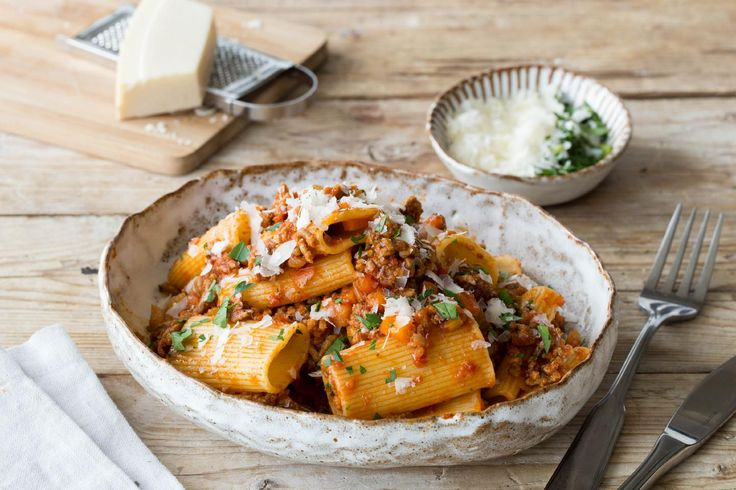 Traditional Pork & Veal Rigatoni Bolognese