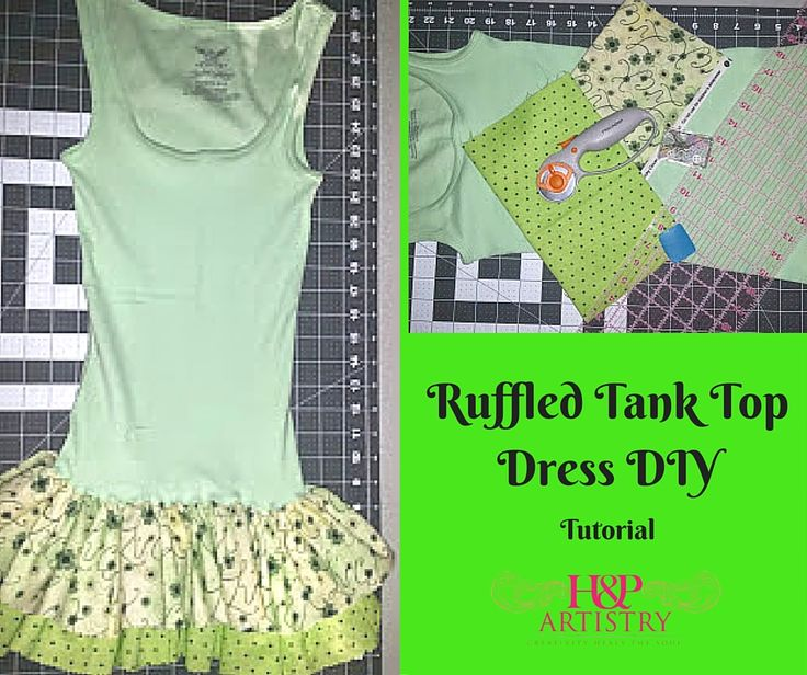 Ruffled Tank Top Dress DIY I made the kiddo a Ruffled tank top dress for St. Patty's Day and thought you guys might like it as well. It took all of 30 minutes including taking pictures. Materials: Tank Top – Be sure the tank is long enough to make a dress. 2 cuts of fabric … … Continue reading →