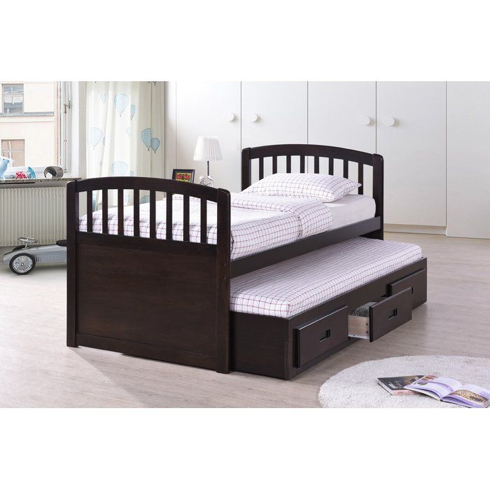 Best Quality Furniture Twin Captain Bed with Trundle Bed | Wayfair