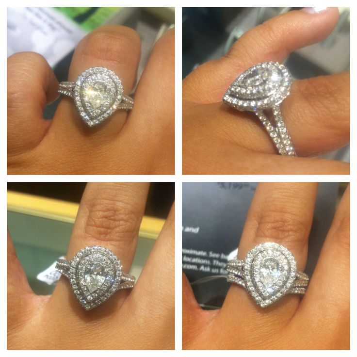 Spectacular Neil Lane Pear Shape Double Halo ring My dream ring