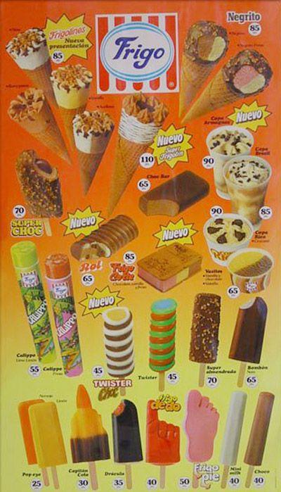cartel helados 1987