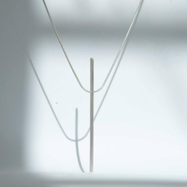 Line Necklace, by BAARA Jewelry.