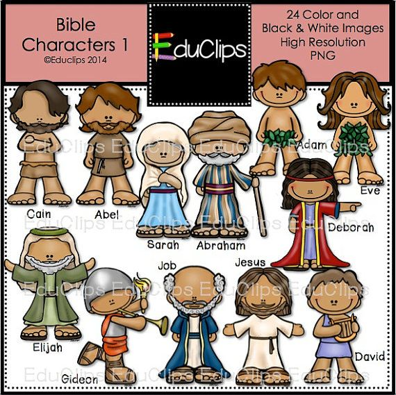 Bible Characters 1 Clip Art Bundle by EduClips on Etsy, $6.00