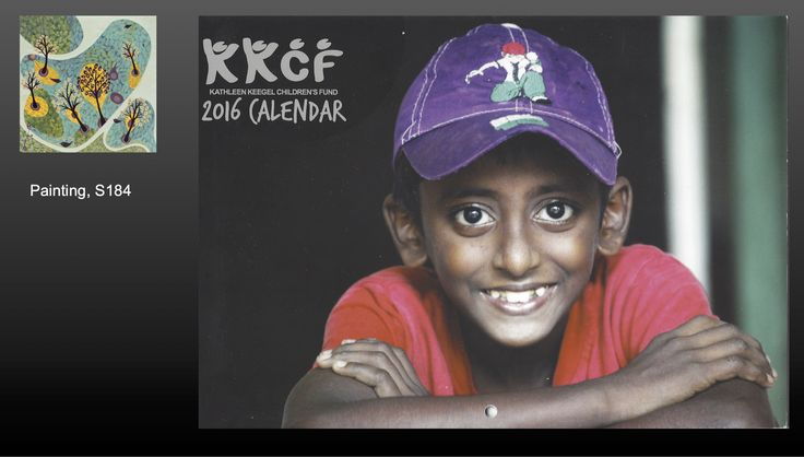 Painting S184 was featured, among other artworks, in Katherine Keegal Children's Fund's 2016 Calendar.