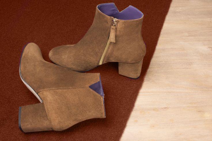 Virgin velours rhum #anaki #shoes #boots #bottine #vintage