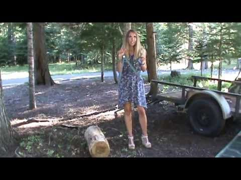 Easily Pick Up Firewood With The PINCH-A-LOG - YouTube