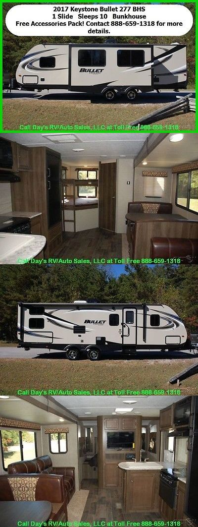 rvs: 2017 Keystone Bullet 277Bhs Travel Trailer Bumper Pull Behind Camper Towable Rv -> BUY IT NOW ONLY: $21500 on eBay!