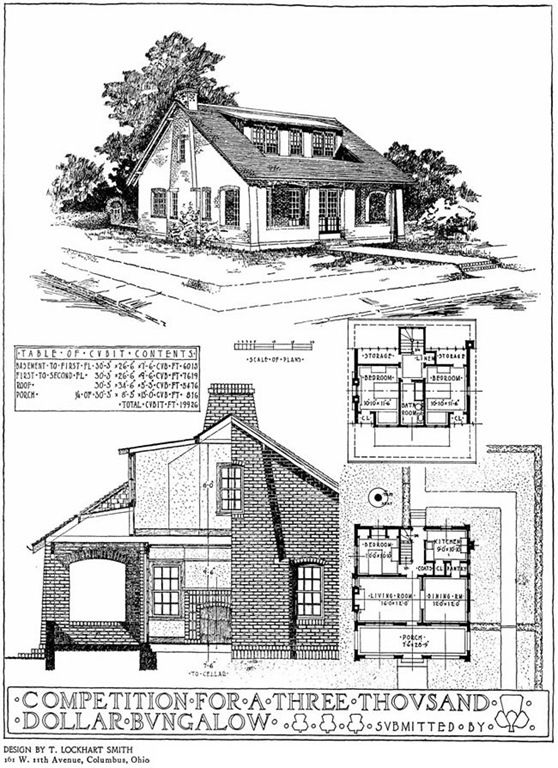 $3000 Bungalow | VINTAGE HOUSE PLANS | Pinterest ...