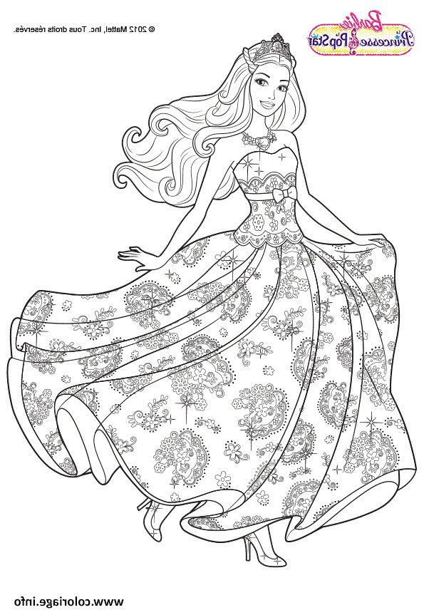 princesse barbie coloriage en 2020 | Coloriage à imprimer princesse, Image coloriage, Coloriage