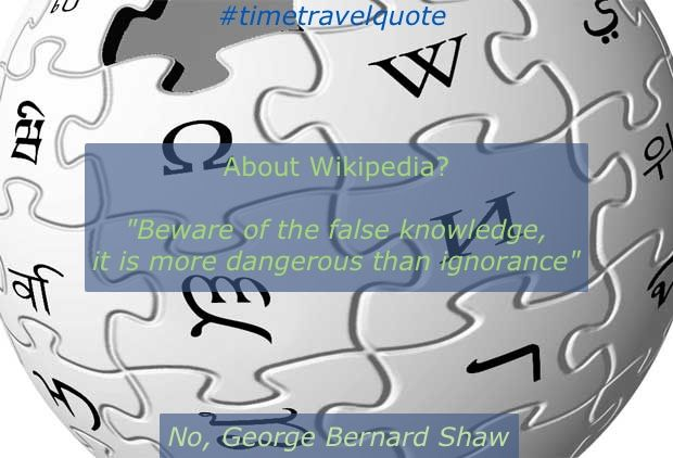 Is this quote related to the Wikipedia? What do you think?