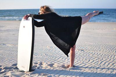 bodyboarding girl