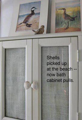 Beach shell cabinet knobs.