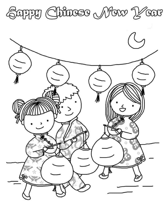 Chinese New Year Printable Coloring Pages New Year Coloring Pages Coloring Pages For Kids Coloring Pages