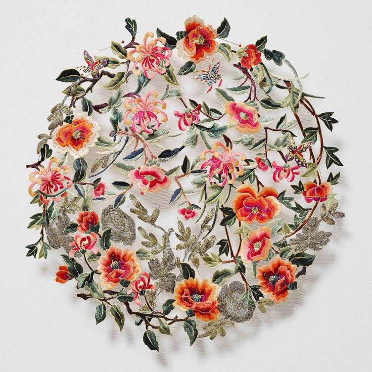 Patternbank love the intricacy in Australian artist Louise Saxton's crafted reconstructions using found vintage embroidery. Working in Melbourne, Victoria,