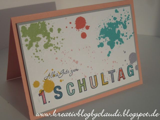 Kreativ Blog by Claudi: zur Einschulung #1