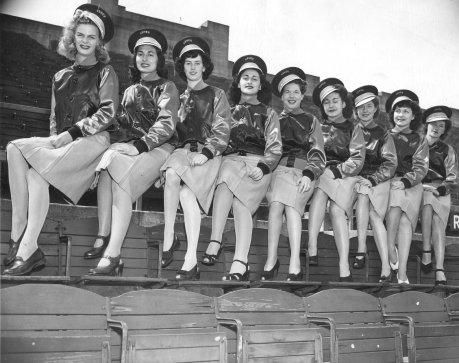 "San Francisco's Seals Stadium boasted baseball's first female ushers. (1945) They had a tanning lamp inside the stadium. ""Since our girls represent California,"" the head Usherette told the Chronicle, ""they must look healthy and sunkist at all times."""
