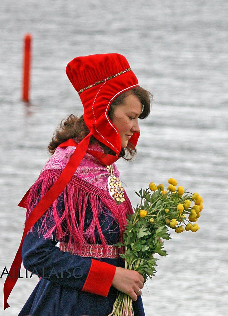 So beautiful Maria , sami girl from Inari Lapland  Aili Alaiso Finland