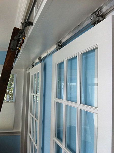 17 best images about home ideas doors on pinterest for Sliding wall track