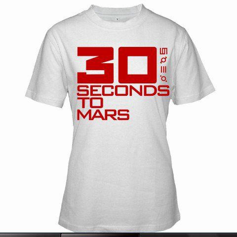 30 SECONDS TO MARS BAND JARED LETO ALTERNATIVE ROCK EMO Women White T-Shirt Size S to 3XL