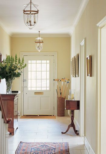 Interesting idea : 2 light fixtures Love this neutral color scheme by Farrow & Ball