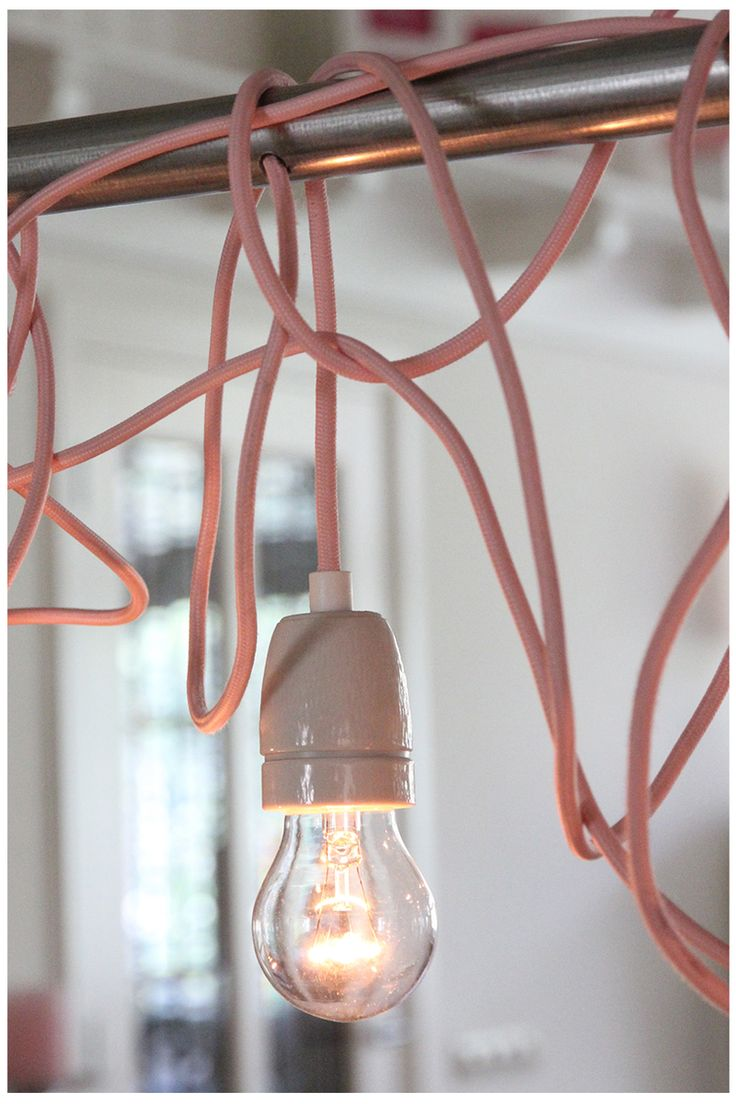 Lamp, DIY pink/ roze