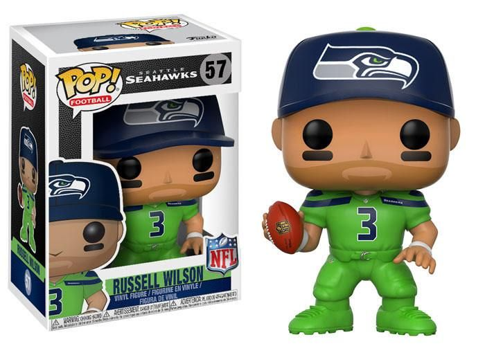 Funko Pop NFL Wave 4 Russell Wilson (Seahawks Color Rush)