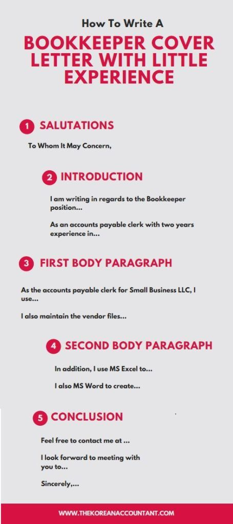 How To Write A Bookkeeper Cover Letter With Little Experience | The ...