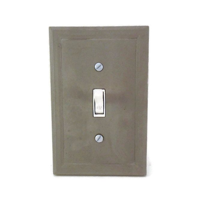Cement Switch Plate Cover Concrete Light Modern Decor Minimalist Outlet Single Lighti
