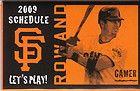 2009 San Francisco Giants Schedule--Coke--Aaron Rowand